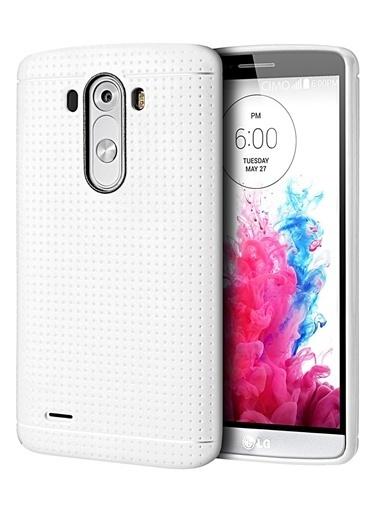 Microsonic Dot Style Silikon Lg G3 Kılıf Beyaz Renkli